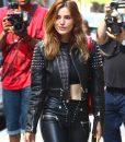 Silver Studded Bella Thorne Black Leather Jacket