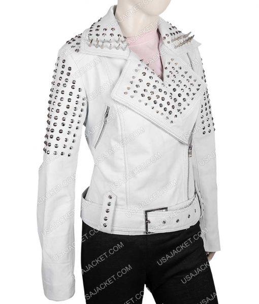 Pam True Blood White Leather Jacket