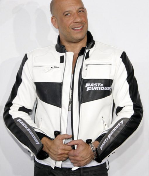 fast and furious 7 White Cafer Racer Jacket