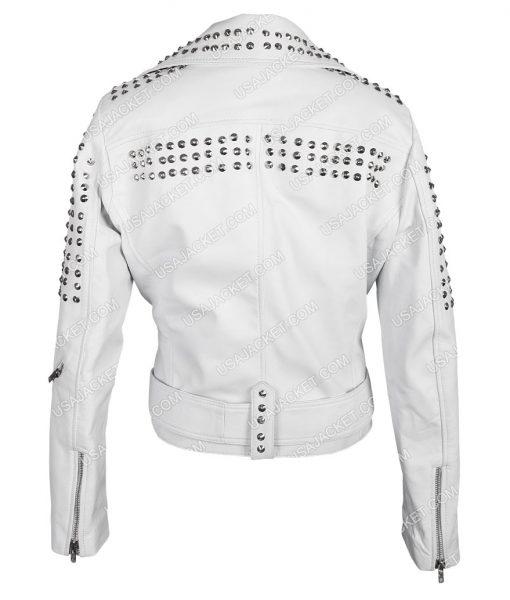 True Blood Pam White Studded Cropped Jacket