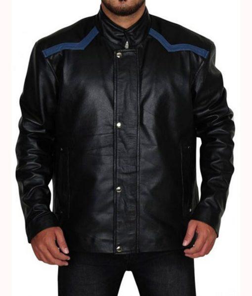 Zombieland Woody Harrelson Black Leather Jacket