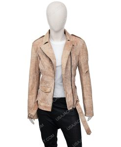 Fast And Furious 7 Letty Ortiz Suede Leather Jacke