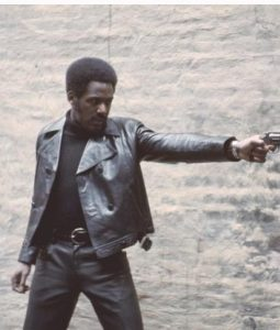 Shaft 1971 Black Leather Jacket