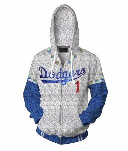 2019 Rocketman Elton John Dodgers Zip up Hoodie
