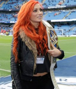 Becky lynch Fur leather Jacket