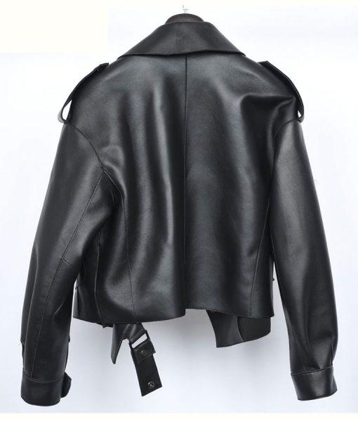 Womens Black Sheep Skin Leather Jacket