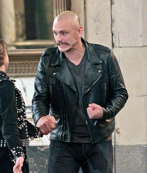 Black Leather Zeroville Jacket