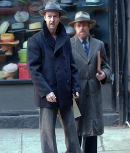 Motherless Brooklyn Lionel Essrog Wool Blend Pea Coat