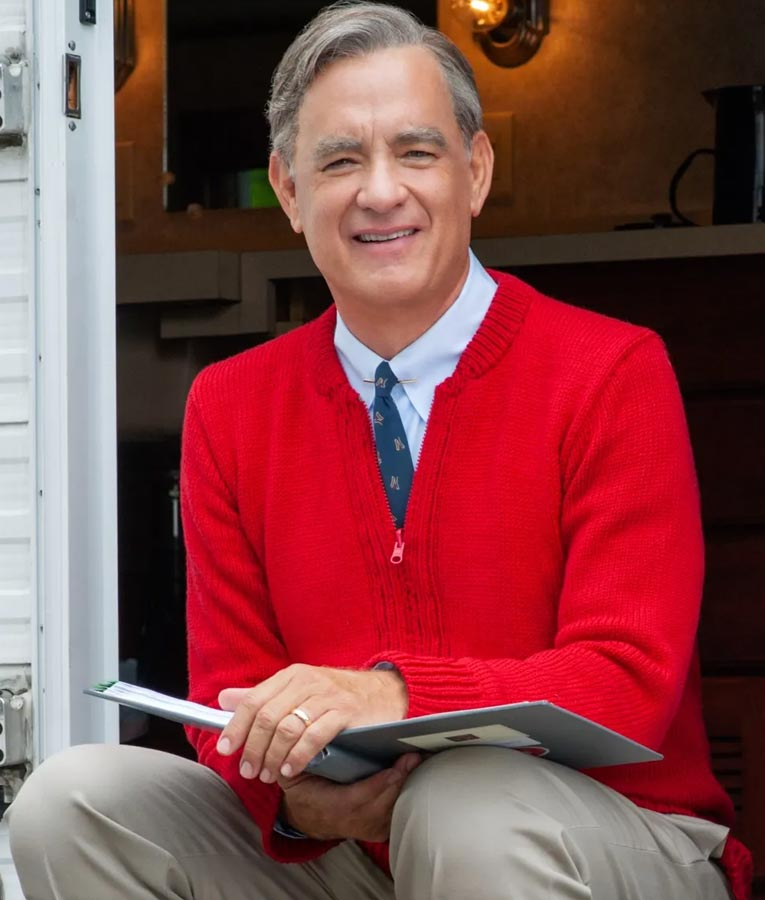 Fred Rogers A Beautiful Day In The Neighborhood Red Sweater