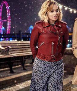 Last Christmas Emilia Clarke Kate Leather Jacket