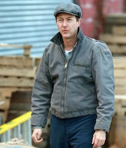 Motherless Brooklyn Edward Norton Grey Denim Jacket