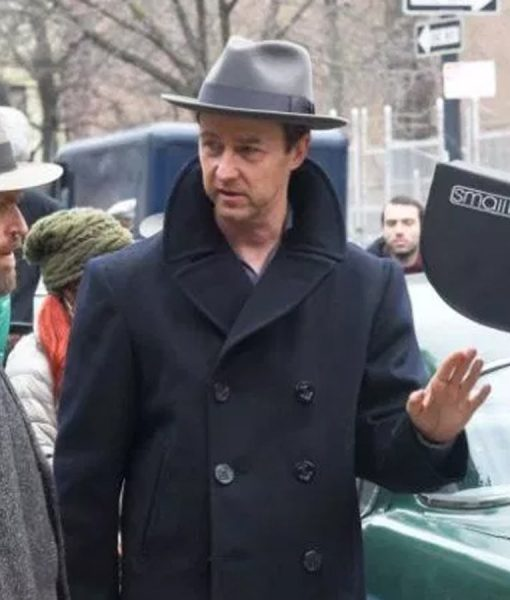 Edward Norton Motherless Brooklyn Double Breasted Coat