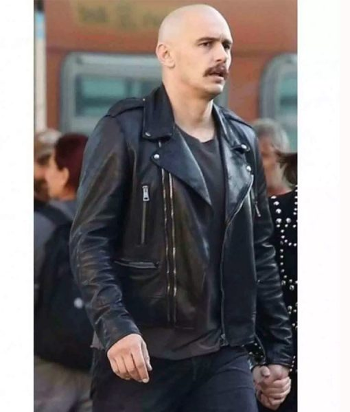 Montgomery Clift Zeroville Black Leather Jacket
