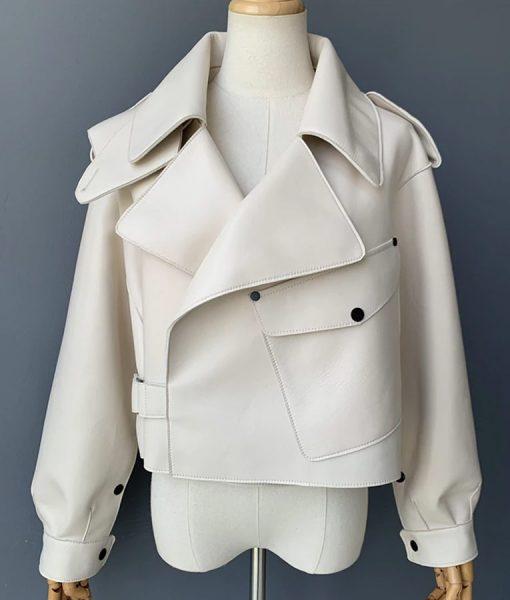 Sheepskin Leather Womens Jacket