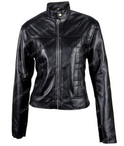 Naomi Scott Power Rangers Black Leather Jacket