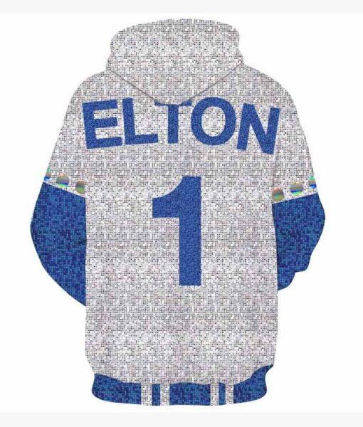 2019 Rocketman Elton John Blue and White Hoodie