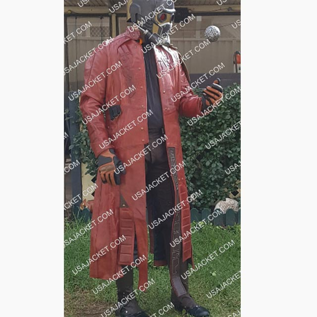 Star Lord Leather Coat Customer Image