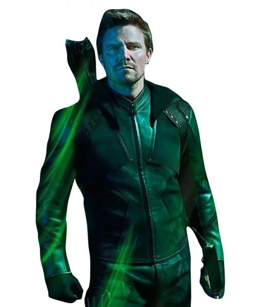 Stephen-Amell-Green-Arrow-S08-Hoodie-Jacket