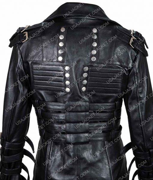 Emma Thalos Syndicate Black Leather Coat