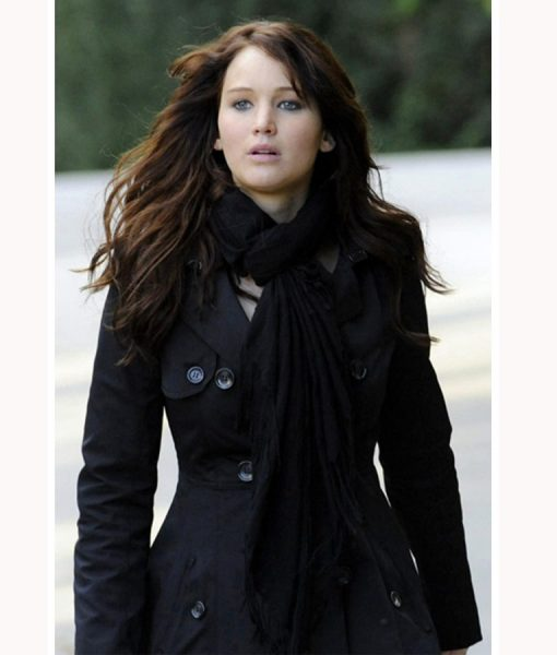 Silver Linings Playbook Jennifer Lawrence Double Breasted Coat
