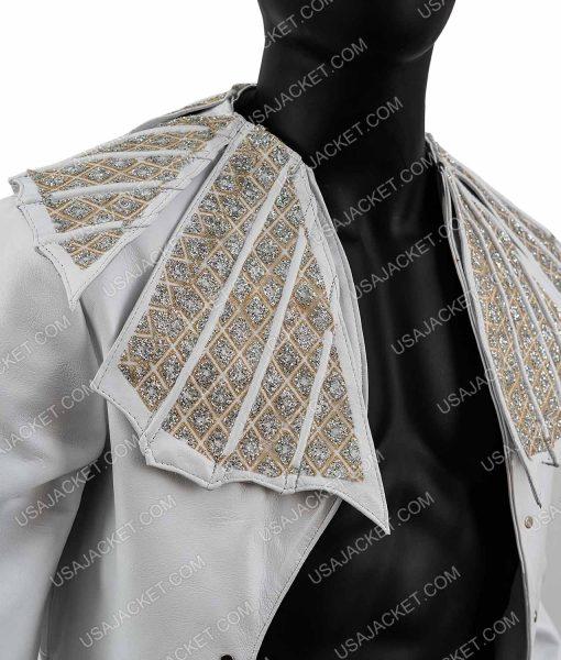 Bohemian Rhapsody White Leather Jacket