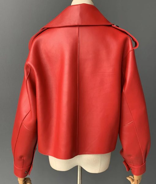 Red Biker Jacket