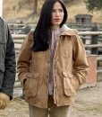Yellowstone Monica Dutton Jacket With Fur Collar