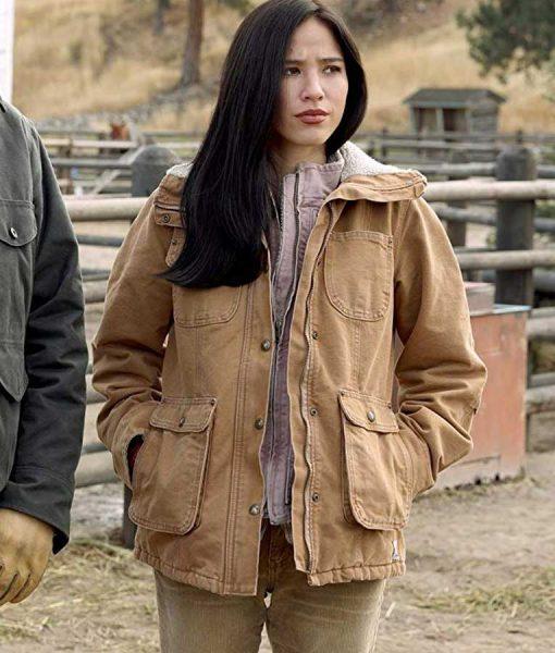 Monica Dutton Yellowstone s02 Brown jacket