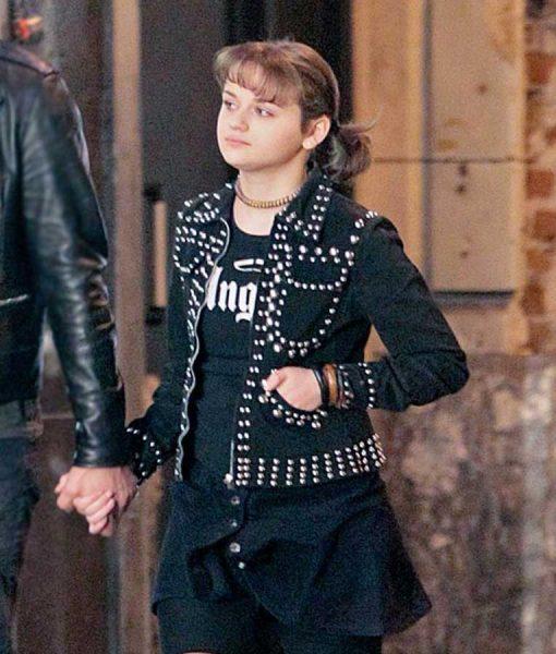 Zazi Zeroville Joey King Studded Leather Jacket