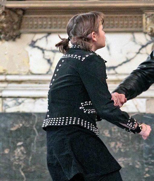 Zeroville Joey King Black Suede Leather Jacket