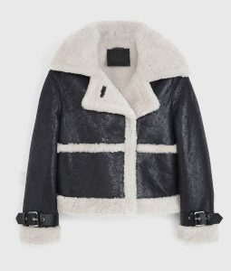 Arlo Black Leather Shearling Jacket