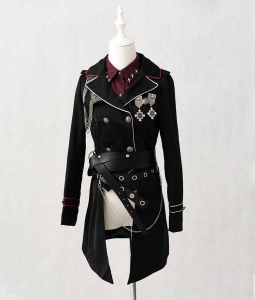 Black Military Coat