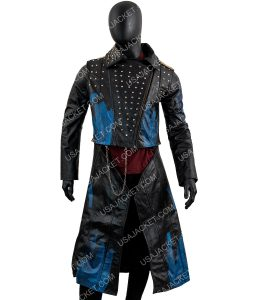 Descendants 3 Hades Cheyenne Jackson Studded Leather Coat