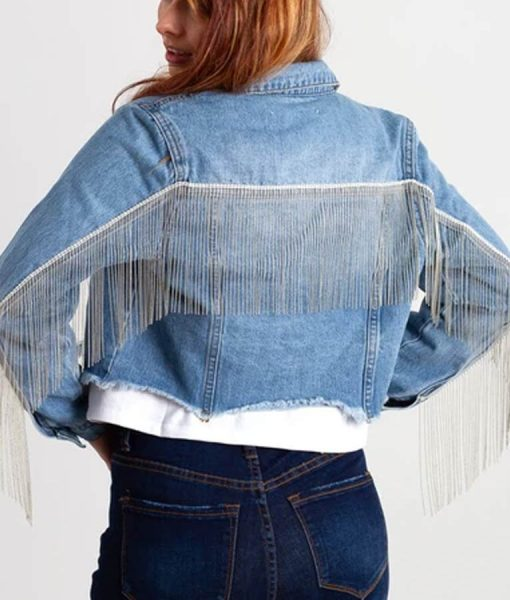 Destiny Hustler Crop Denim Jacket