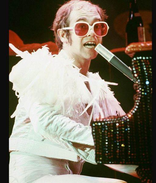 Elton John White Satin Jacket