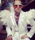 Elton John White Bomber Jacket
