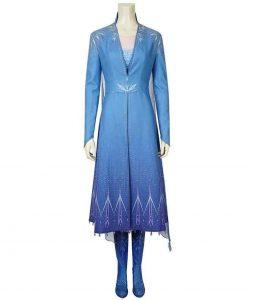 Elsa Blue Trench Coat