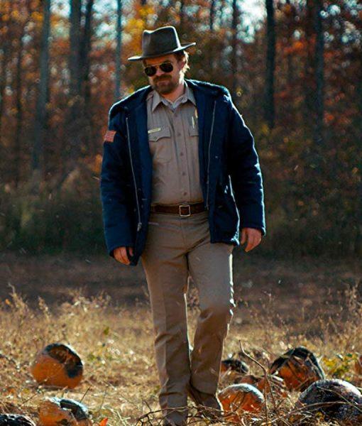 Jim Hooper Blue Hooded Jacket