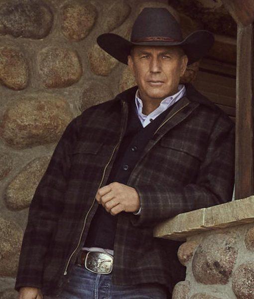 Yellowstone Season 02 John Dutton Plaid Jacket
