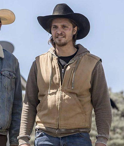 Luke Grimes Yellowstone Brown Vest