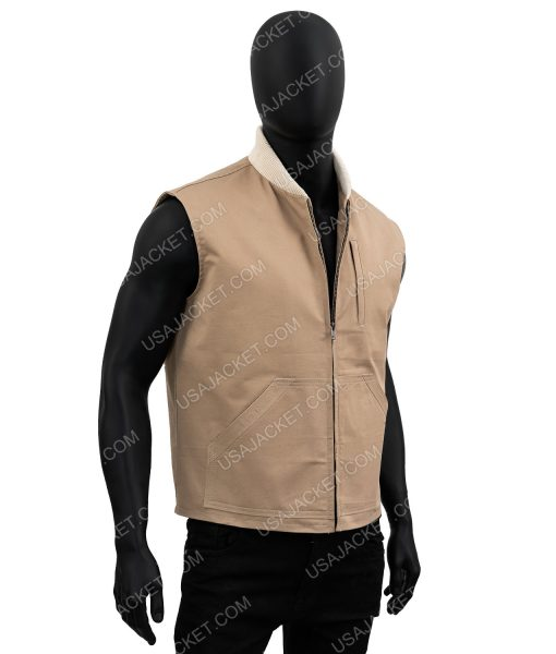Kayce Dutton Yellowstone Luke Grimes Brown Vest