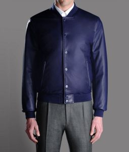 Saint Leather Blue Jacket
