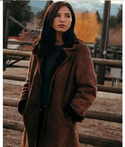 Yellowstone S02 Monica Shearling Coat