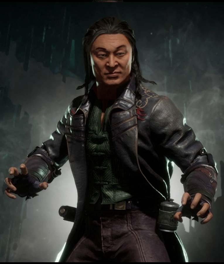 Mortal Kombat 11 Black Leather Shang Tsung Coat