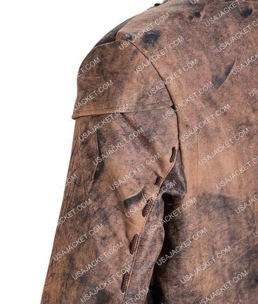 John Alden Salem Distressed Brown Leather Jacket