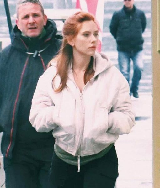 Scarlett Johansson Black Widow White Jacket