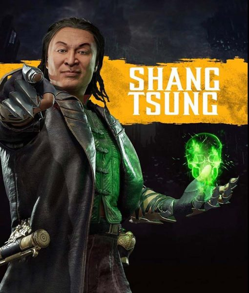 Shang Tsung Leather Trench Coat