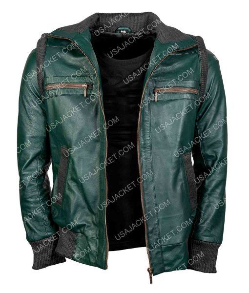 Keri Russell Green Leather The Americans Jacket