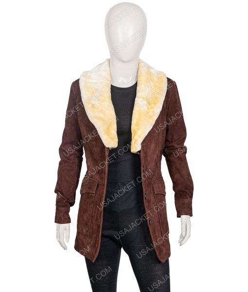 Kelly Reilly Yellowstone Brown Leather Jacket