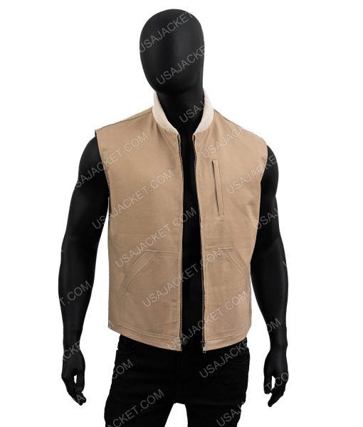 Kayce Dutton Yellowstone Luke Grimes Brown Cotton Vest